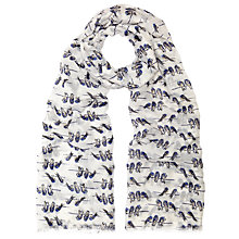 Buy John Lewis Bird On Branch Scarf, Blue Online at johnlewis.com