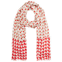 Buy John Lewis Mini Elephant Scarf, Red Online at johnlewis.com
