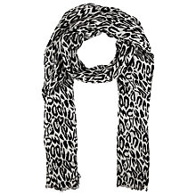 Buy John Lewis Animal Print Scarf, Black Online at johnlewis.com