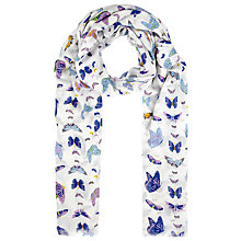 Buy John Lewis Butterfly Scarf, Blue Online at johnlewis.com