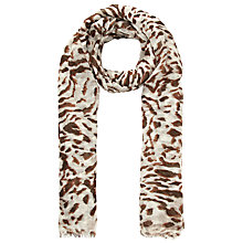 Buy John Lewis Blurred Tiger Linen Scarf, Brown Online at johnlewis.com