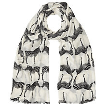 Buy John Lewis Friendly Zebra Scarf, Cream Online at johnlewis.com