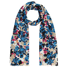 Buy John Lewis Sara Floral Scarf, Blue Online at johnlewis.com