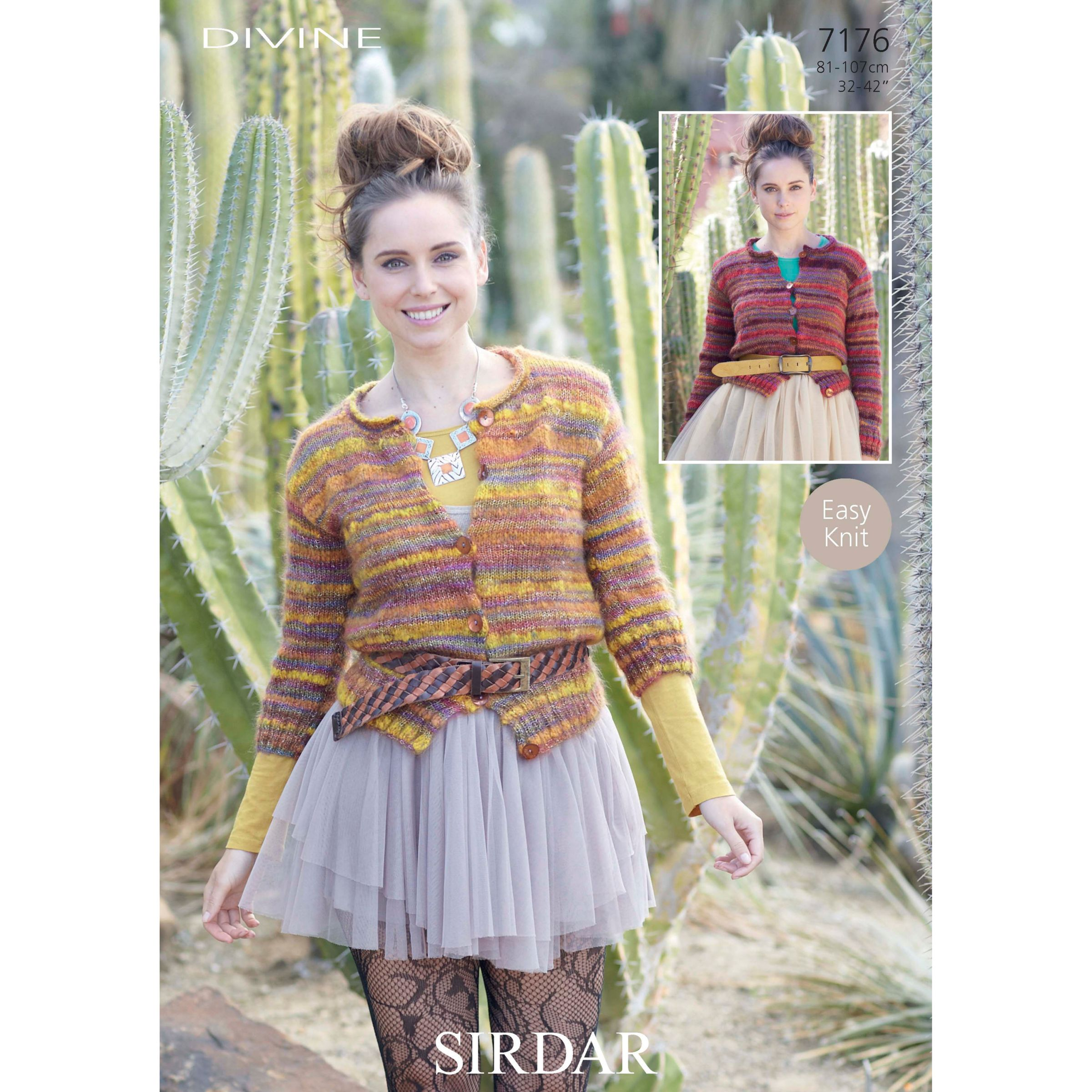 Sirdar Ladies Knitting Patterns : Buy Sirdar Womens Cardigan Knitting Pattern, 7176 John Lewis
