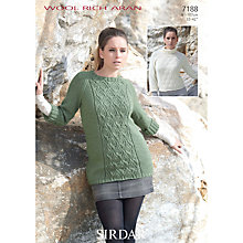 Buy Sirdar Women's Jumper Knitting Pattern, 7188 Online at johnlewis.com