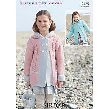 Buy Sirdar Supersoft Aran Knit Cardigan Knitting Pattern, 2425 Online at johnlewis.com