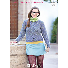 Buy Sirdar Super Chunky Women's Jumper Knitting Pattern, 7160 Online at johnlewis.com