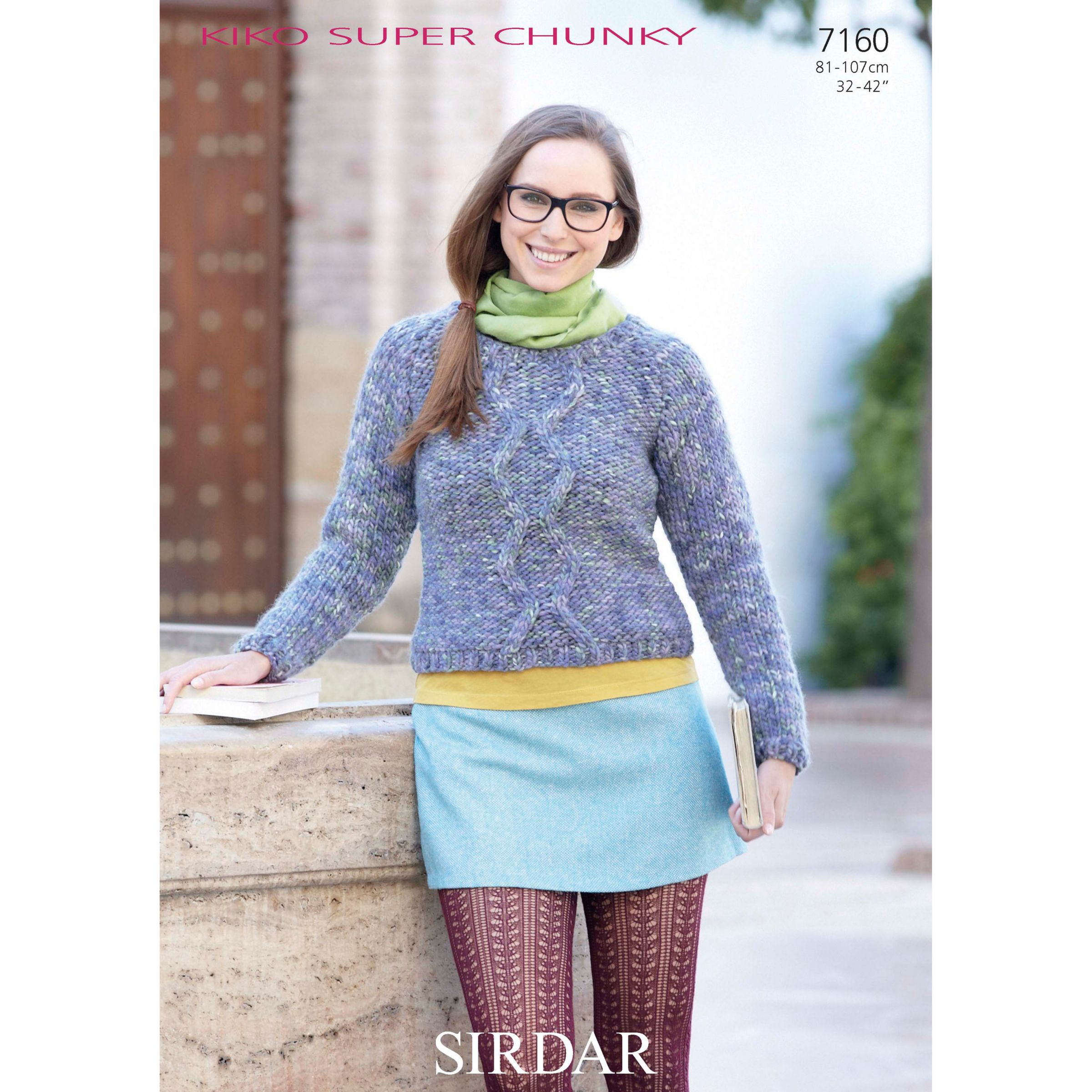 Super Chunky Jumper Knitting Pattern : Buy Sirdar Super Chunky Womens Jumper Knitting Pattern, 7160 John Lewis