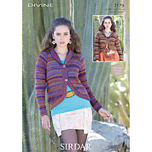 Buy Sirdar Women's Cardigan Knitting Leaflet, 7179 Online at johnlewis.com