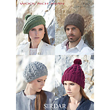Buy Sirdar Hat Knitting Leaflet, 7182 Online at johnlewis.com