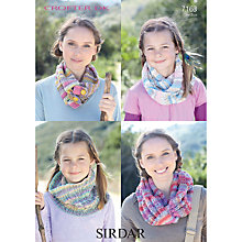 Buy Sirdar Women's Snood Knitting Leaflet, 7163 Online at johnlewis.com