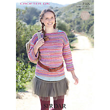 Buy Sirdar Women's Jumper Knitting Pattern, 7165 Online at johnlewis.com