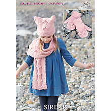 Buy Sirdar Supersoft Children's Hat, Scarf & Gloves Knitting Patterns, 2428 Online at johnlewis.com