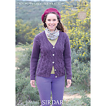 Buy Sirdar DK Women's Cardigan Knitting Patterns, 7119 Online at johnlewis.com