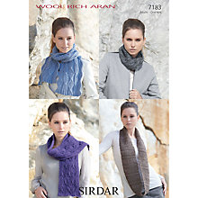 Buy Sirdar Women's Scarf and Snood Knitting Leaflet, 7183 Online at johnlewis.com