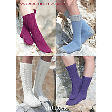 Buy Sirdar Women's Socks Knitting Pattern, 7181 Online at johnlewis.com