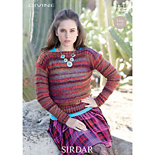 Buy Sirdar Women's Jumper Knitting Pattern, 7178 Online at johnlewis.com