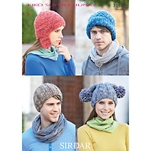 Buy Sirdar Hat Knitting Pattern, 7197 Online at johnlewis.com