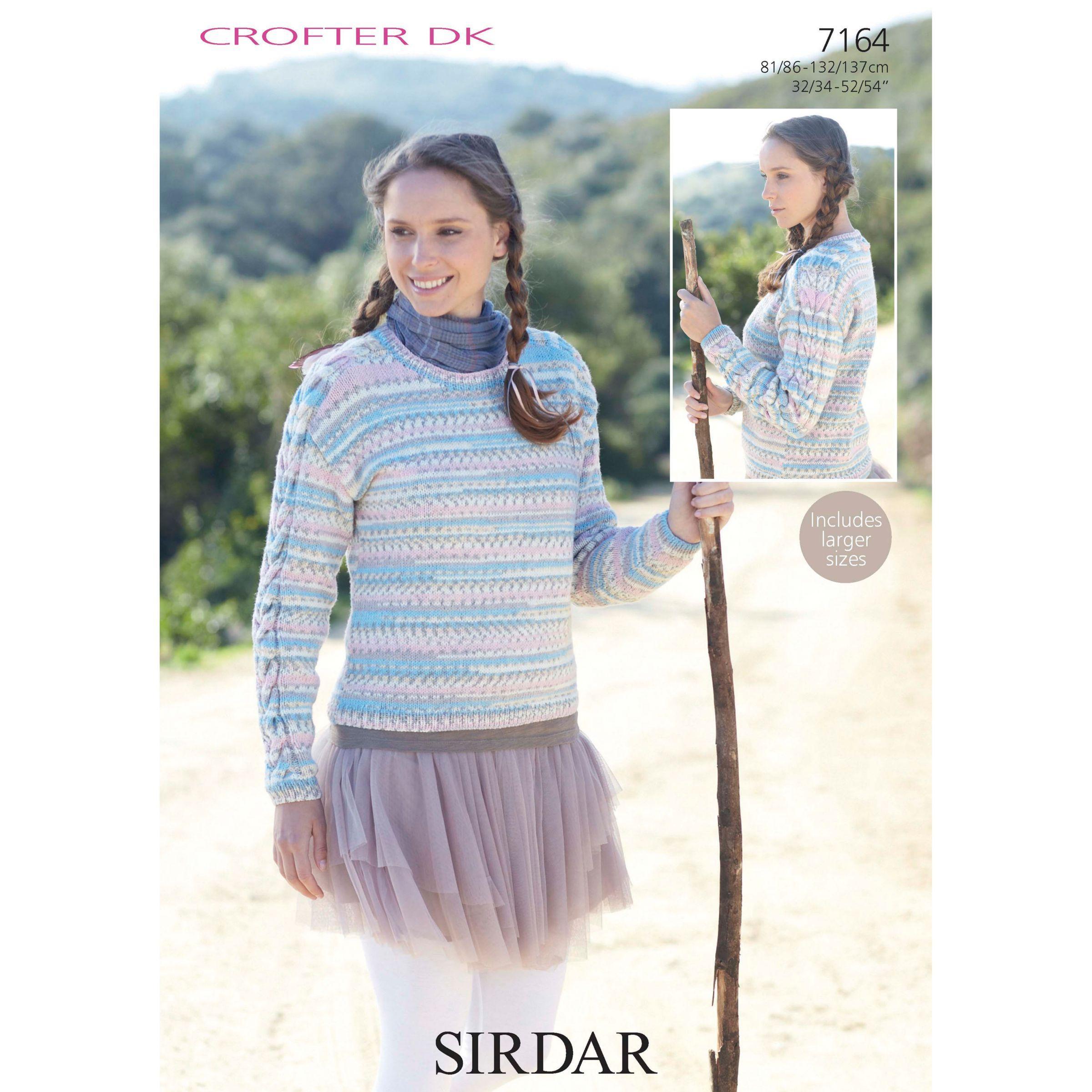 Buy Sirdar Womens Jumper Knitting Pattern, 7164 John Lewis