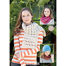 Buy Sirdar Women's Hat and Scarf Crochet Patterns, 7161 Online at johnlewis.com
