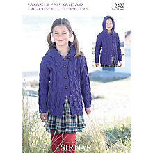 Buy Sirdar Girl's Double Knit Cardigan Knitting Pattern, 2422 Online at johnlewis.com
