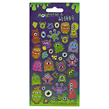 Buy Paper Projects Monsters & Aliens Stickers Online at johnlewis.com