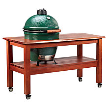 Buy Big Green Egg Large Ceramic Charcoal Barbecue with Slatted Mahogany Table Online at johnlewis.com