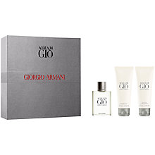 Buy Giorgio Armani Acqua di Giò Homme Eau de Toilette Gift Set Online at johnlewis.com
