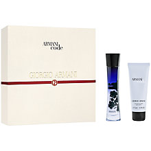 Buy Giorgio Armani Code For Women Eau de Parfum Gift Set with Luxury Beauty Crackers Online at johnlewis.com