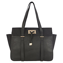 Buy Warehouse Tie Front Day Bag, Black Online at johnlewis.com
