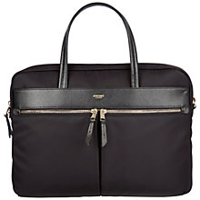 "Buy Knomo Hanover Slim Briefcase for 14"" Laptops, Black Online at johnlewis.com"