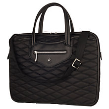 "Buy Knomo Charlotte Slim Briefcase for 15"" Laptops, Black Online at johnlewis.com"