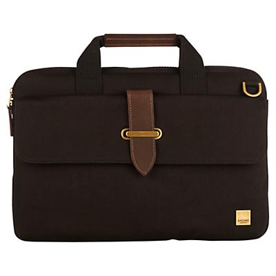 "Image of Knomo Par Slim Canvas Briefcase for 15"" Laptops, Black"