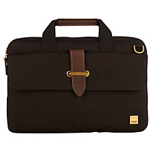 "Buy Knomo Par Slim Canvas Briefcase for 15"" Laptops, Black Online at johnlewis.com"