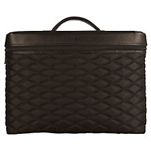 "Buy Knomo Alfie Slim Briefcase for Laptops up to 13"", Black Online at johnlewis.com"