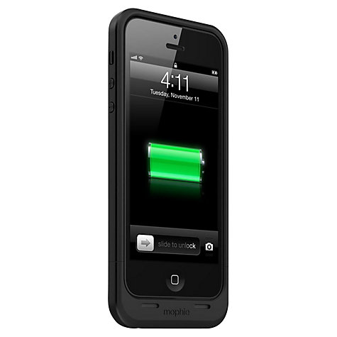 Buy Mophie Juice Pack Plus, Case with Rechargeable Battery for iPhone 5 & 5s, Black Online at johnlewis.com
