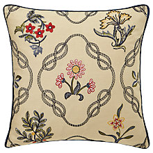 Buy Morris & Co Strawberry Thief Embroidered Cushion Online at johnlewis.com