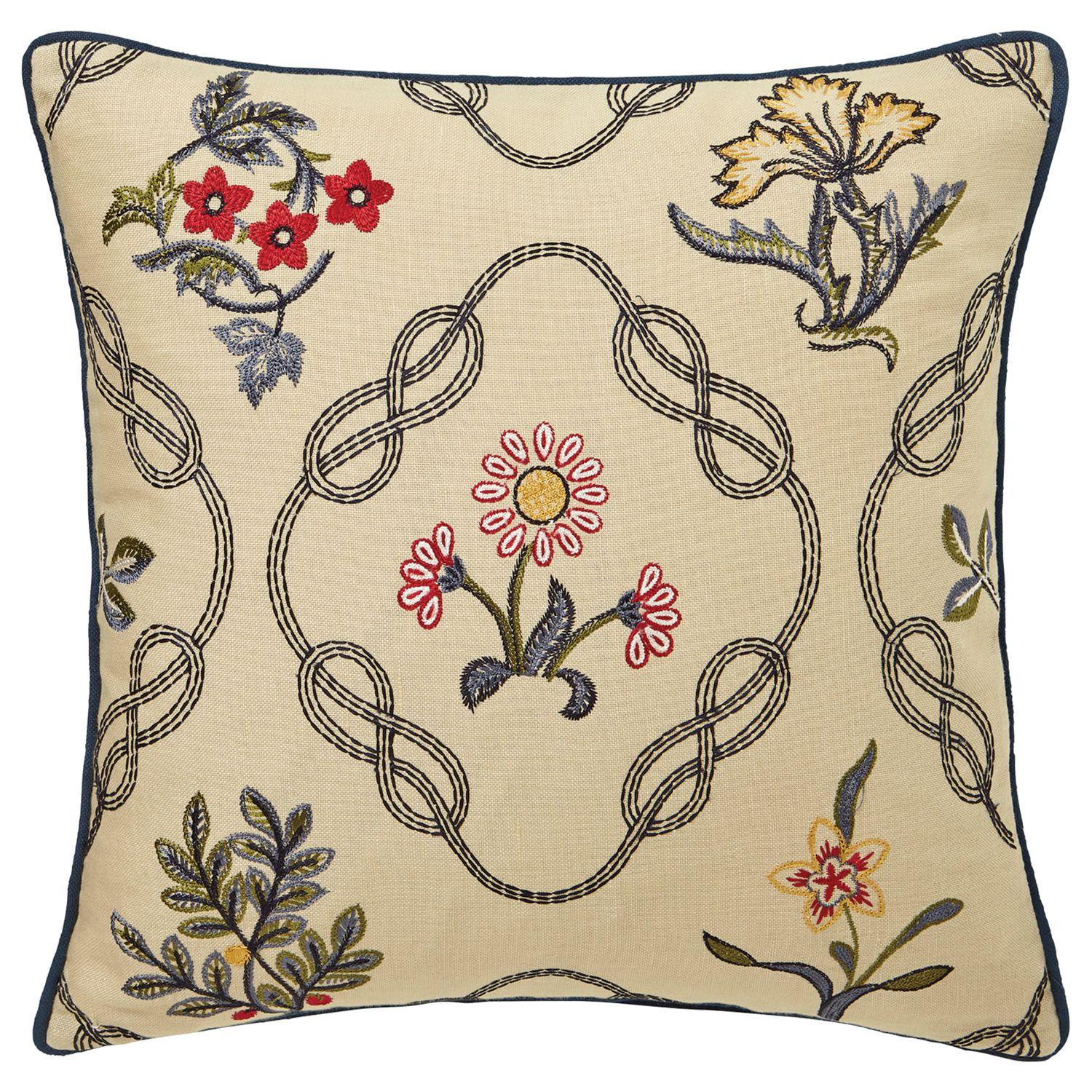 Morris & Co Morris & Co Strawberry Thief Embroidered Cushion