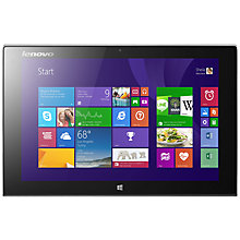 "Buy Lenovo Miix 2 10 Tablet & Keyboard Dock, Intel Atom, Windows 8.1, 10.1"", Wi-Fi, 64GB, Silver Online at johnlewis.com"