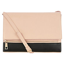 Buy Warehouse Front Zip Crossbody Clutch Bag, Beige Online at johnlewis.com