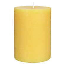 Buy John Lewis White Grapefruit Pillar Candle Online at johnlewis.com