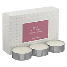 Buy John Lewis Fig & Vetiver Tealights Online at johnlewis.com