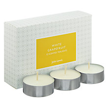 Buy John Lewis White Grapefruit Tealights Online at johnlewis.com
