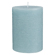 Buy John Lewis Seagrass Linen Pillar Candle Online at johnlewis.com