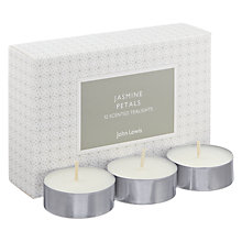 Buy John Lewis Jasmine Petals Tealights Online at johnlewis.com