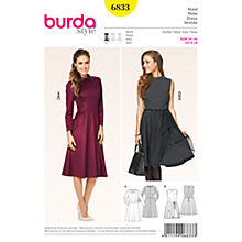 Buy Burda Women's Dress Sewing Pattern, 6833 Online at johnlewis.com