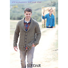 Buy Sirdar DK Men's & Children's Cardigan Knitting Patterns, 7123 Online at johnlewis.com