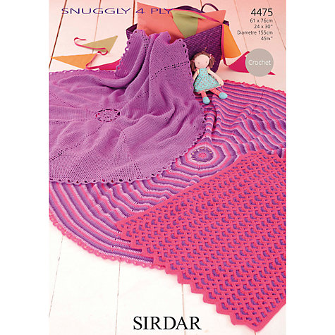 Crochet Patterns John Lewis : Buy Sirdar 4 Ply Blanket Crochet Patterns, 4475 John Lewis