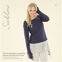 Buy Sirdar Sublime Superfine Alpaca DK Hand Knit Knitting Patterns, 681 Online at johnlewis.com