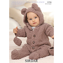 Buy Sirdar Snowflake Baby Onesie Knitting Leaflet, 1774 Online at johnlewis.com